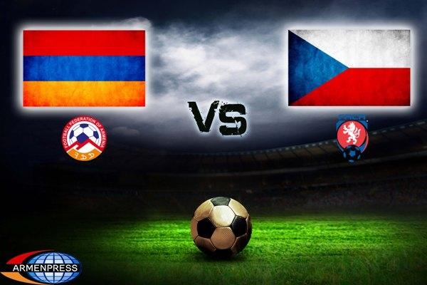 Футбол игра сборная чехия и армения
