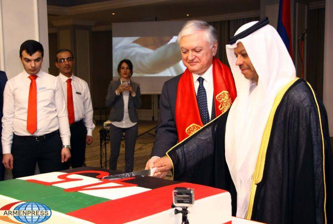 الإمارات العربية المتحدة تحتفل بالذكرى ال45 لتأسيسها - أرمينيا تقدر عالياً علاقاتها مع دولة الإمارات واستقبال رسمي في هذه المناسبة بالسفارة الإماراتية بيريفان-