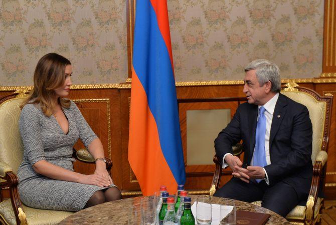 Նախագահն ընդունել է ՌԴ Ռազմավարական նախաձեռնությունների գործակալության գլխավոր տնօրենին և «Առաջնորդների ակումբ»-ի նախագահին