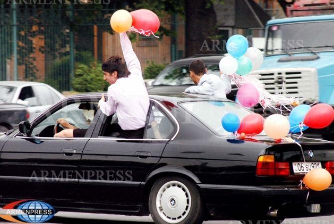 Начальник Дорожной Полиции Армении призвал в день «Последнего звонка» не доверять управление транспортных средств выпускникам