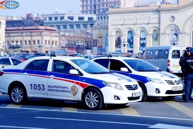 Полиция Армении: за три дня зарегистрировано 24 ДТП, трое погибших