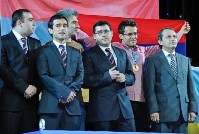Члены сборной Армении по шахматам выразили поддержку Сержу Саргсяну