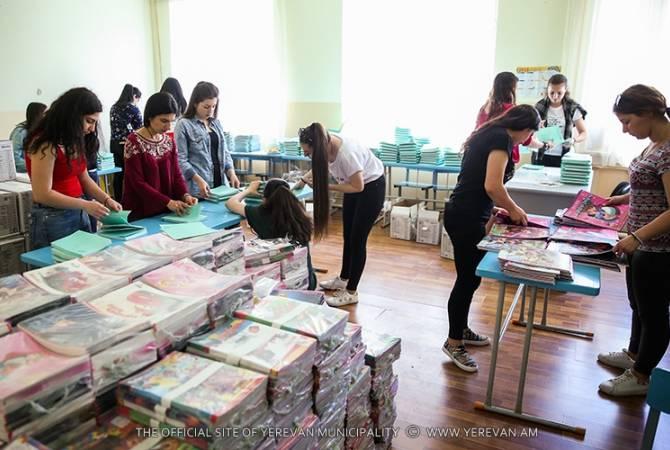 Oколо 10000 школьных сумок –детям, оканчивающим детский сад: мэрия Еревана