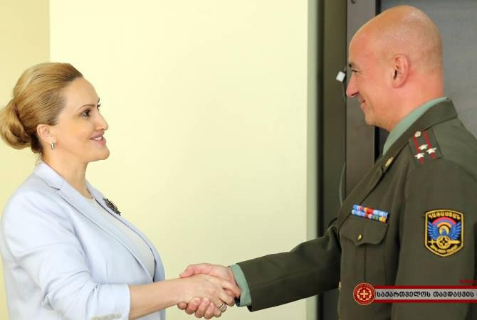 Первый заместитель министра обороны Грузии приняла новоназначенного военного атташе Армении