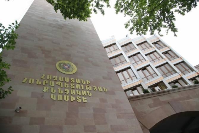 Возбуждено уголовное дело на основе заявления экс-начальника полиции Армении Алика Саркисяна