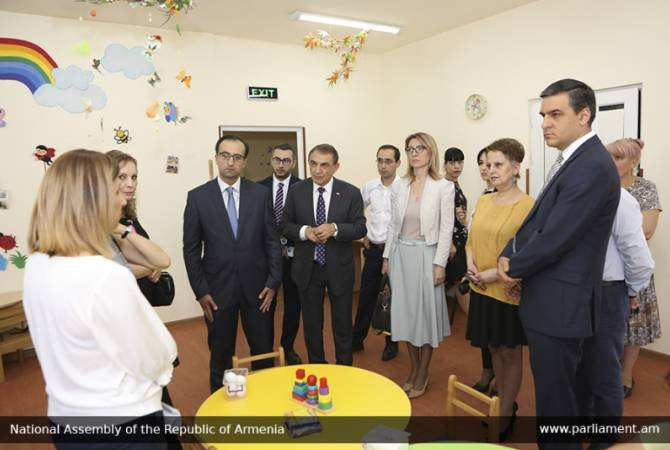 Speaker of Parliament, Ombudsman and Ministers visit Yerevan's N92 inclusive kindergarten