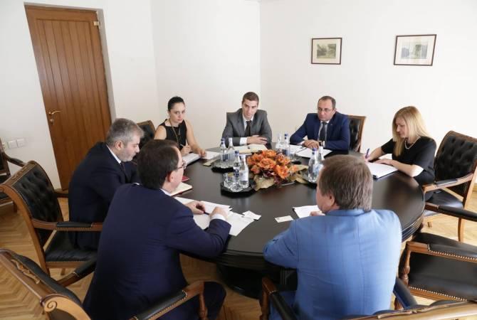 Арцвик Минасян провел встречу с Тимуром Жаксылыковым