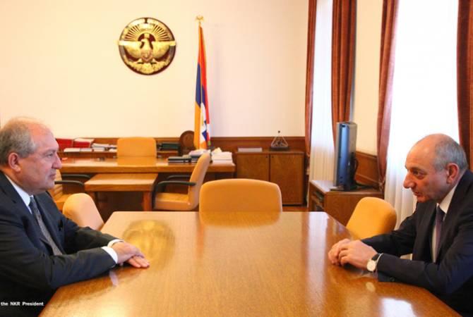Президенты Армении и Арцаха обсудили вопросы, касающиеся укрепления связей двух армянских государств