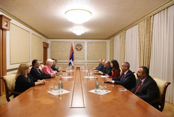 Президент Республики Арцах принял делегацию Европарламента