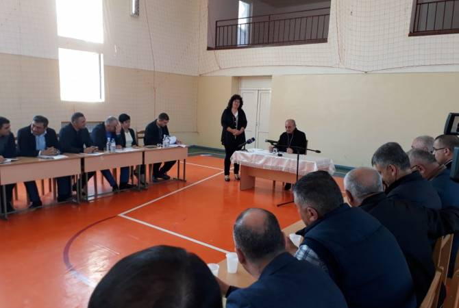 Бако Саакян посетил Шаумянский район