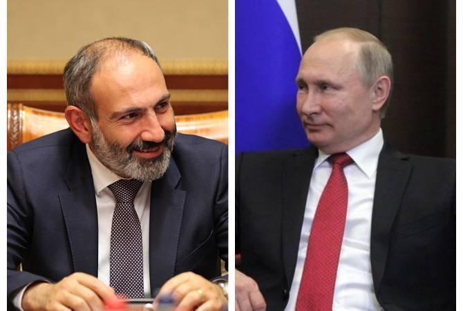 Никол Пашинян направил поздравительное послание Владимиру Путину по случаю дня рождения
