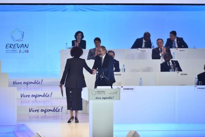 Выступление Никола Пашиняна на французском языке очень положительно было воспринято участниками встречи: Микаэль Жан