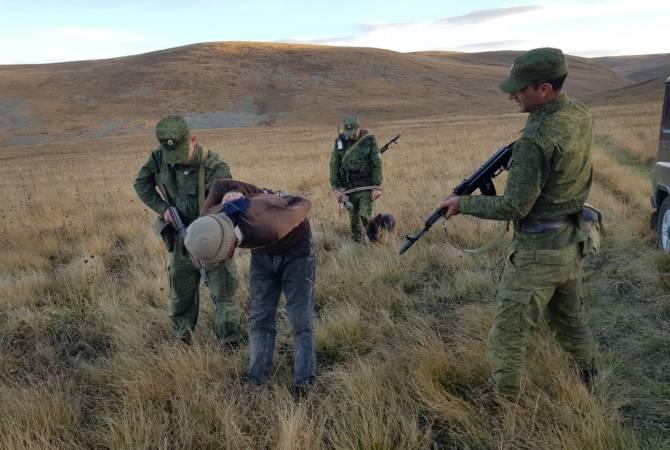 Российские пограничники задержали нарушителя государственной границы