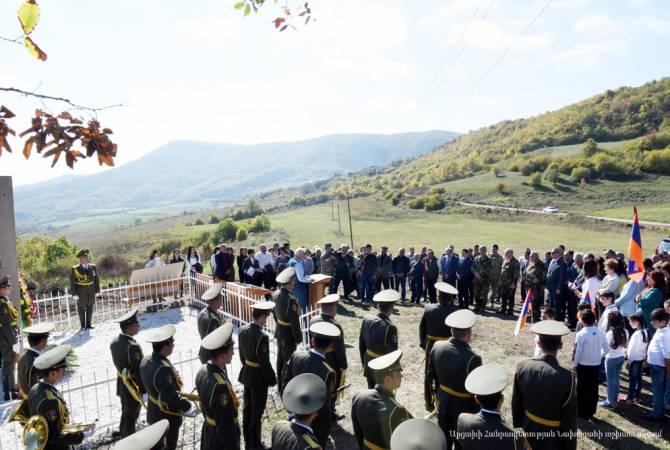 Бако Саакян присутствовал на торжественном мероприятии, посвященном 100-летию битвы при Мсмне