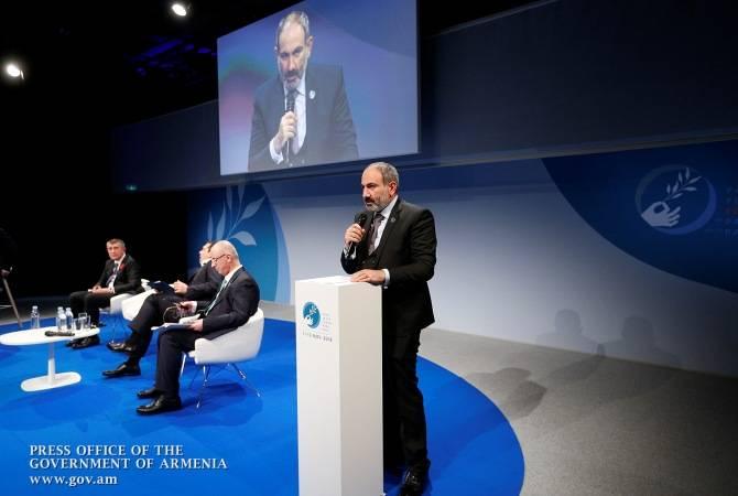 Мы не можем изменить историю, но история может изменить нас, чтобы наше будущее было более хорошим: Никол Пашинян на Парижском форуме мира