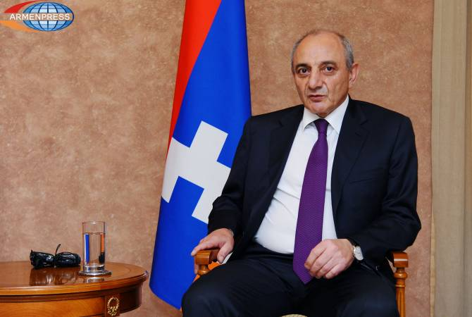 President Bako Sahakyan meets group of members of France-Artsakh friendship circle in Paris