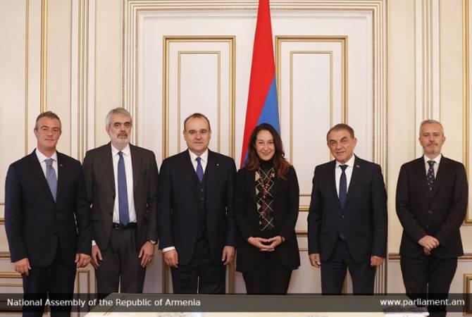 Председатель НС Армении Ара Баблоян принял делегацию во главе с вице-спикером Сената Итальянской Республики
