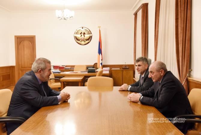 Президент Республики Арцах принял представителя Бюро АРФ «Дашнакцуцюн» Гранта Маргаряна