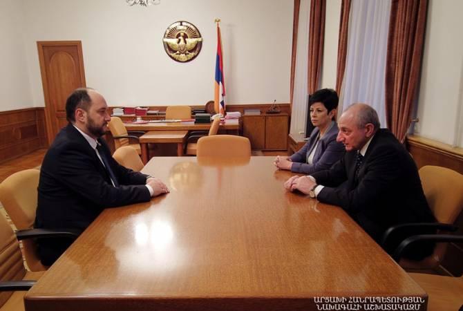 Бако Саакян с Араиком Арутюняном обсудили вопросы сотрудничества Армении и Арцаха в сфере образования