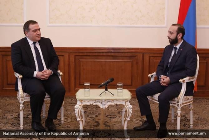 Арарат Мирзоян принял посла Грузии в Армении