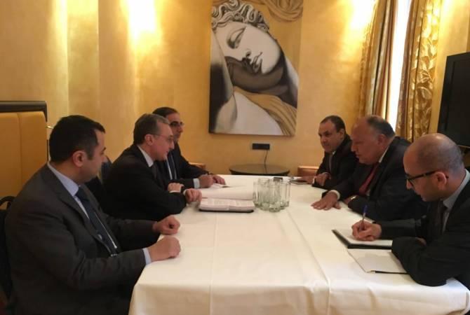 Главы МИД Армении и Египта отметили важность проведения межправительственной комиссии