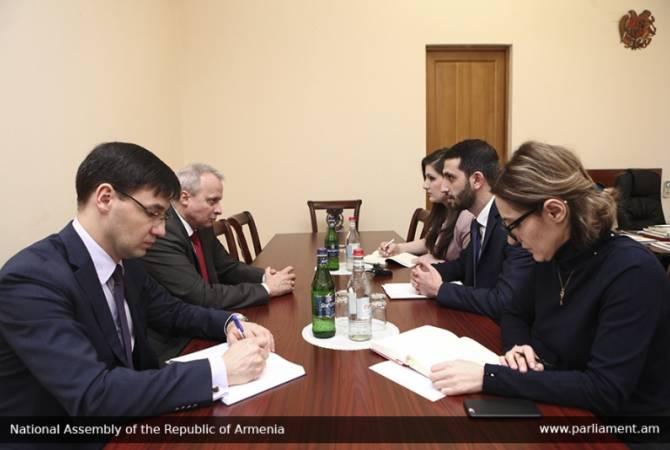 Рубен Рубинян и Сергей Копыркин обсудили вопросы эффективного сотрудничества между Арменией и РФ