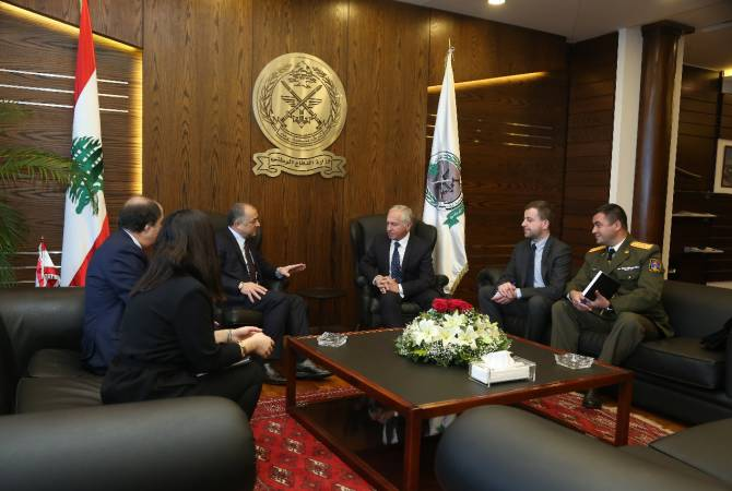 Министр национальной обороны Ливана и посол Армении обсудили вопросы двустороннего сотрудничества