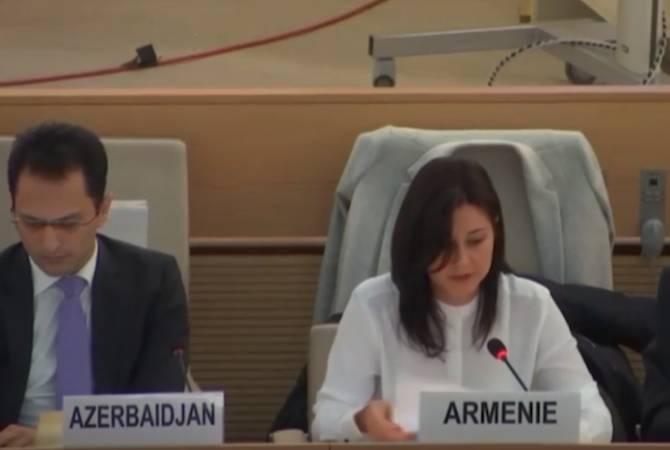 Для того, чтобы быть искренним, Азербайджан должен затронуть погромы армян в Сумгаите: представитель Армении на Совете ООН по правам человека