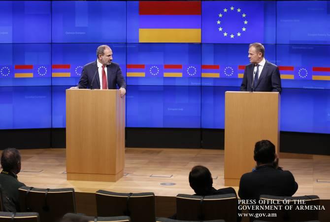 Граждане Армении с нетерпением ждут возможности свободно путешествовать в ЕС: Пашинян Туску