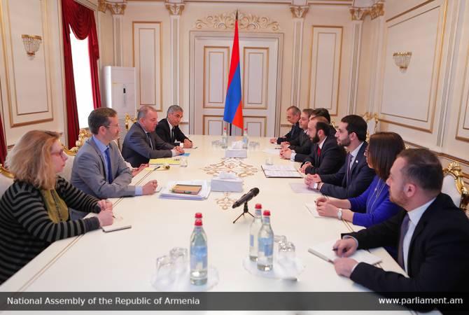Содокладчики ПАСЕ на встрече со спикером НС выразили готовность к углублению связей с Арменией