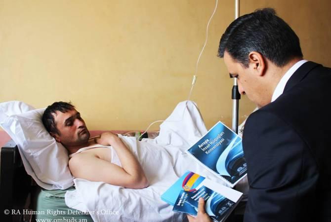 Омбудсмен посетил нарушившего госграницу Армении гражданина Азербайджана
