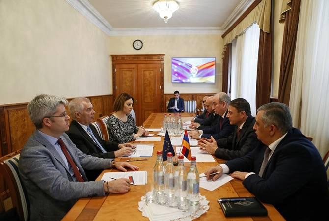 Валерий Осипян обсудил с главой делегации ЕС в Армении реформы в полиции