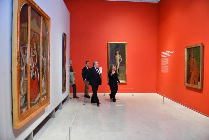 Президент Армен Саркисян посетил Национальный музей древнего искусства Лиссабона
