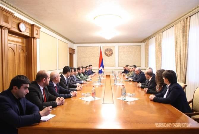 Бако Саакян принял делегацию правительства Республики Армения