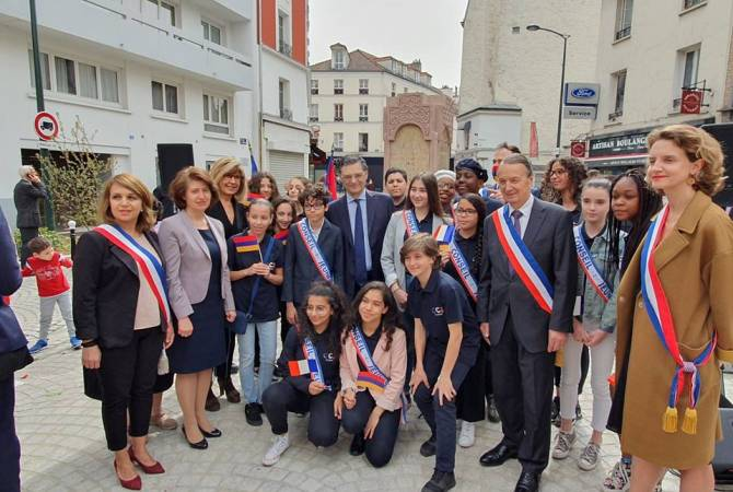 Aznavour Square inaugurated in Clichy, France in honor of Armenian Genocide victims