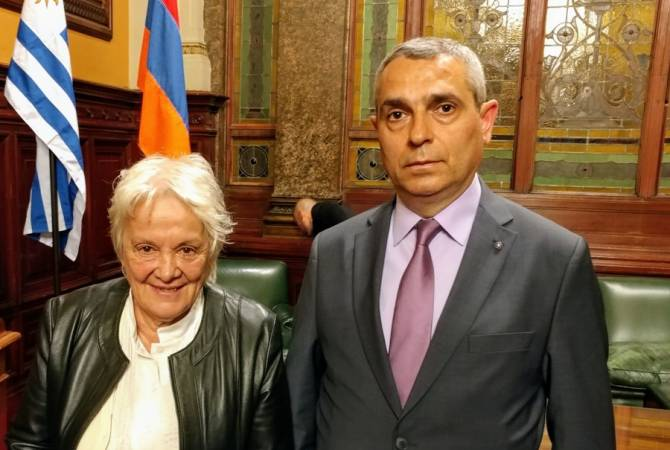 Artsakh FM meets with Vice President of Uruguay