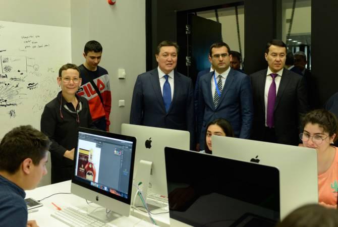 Премьер-министр Республики Казахстан посетил Центр творческих технологий «Тумо»