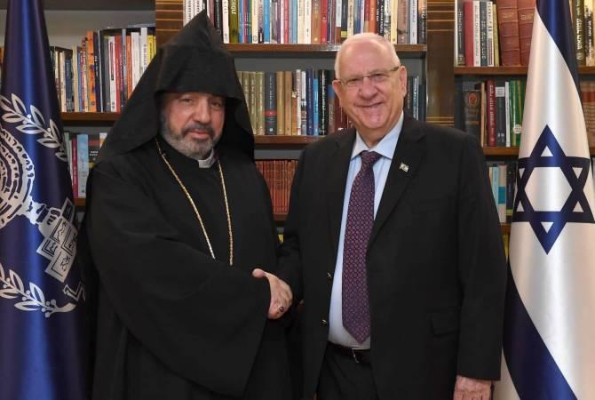 Архиепископ Нурхан Манукян встретился с президентом Израиля Реувеном Ривлиным