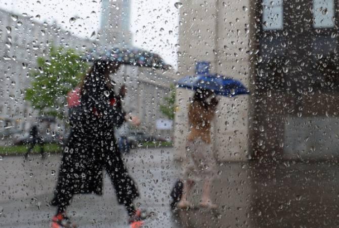 В Армении в ближайшие дни ожидаются дожди, температура воздуха понизится