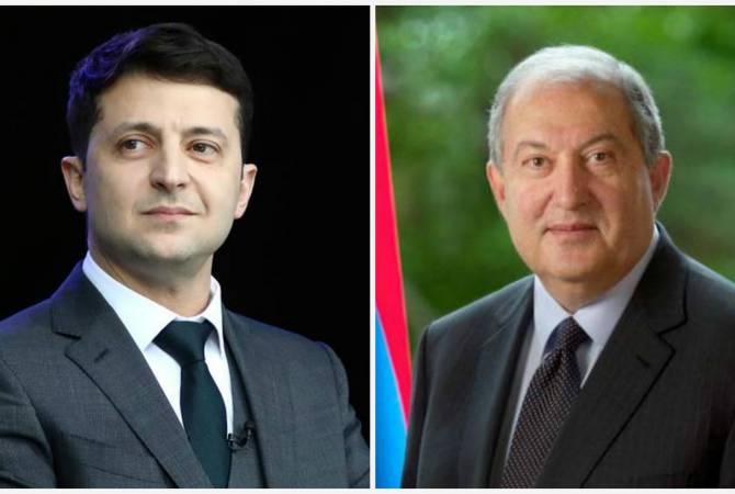 Армен Саркисян поздравил Владимира Зеленского со вступлением в должность
