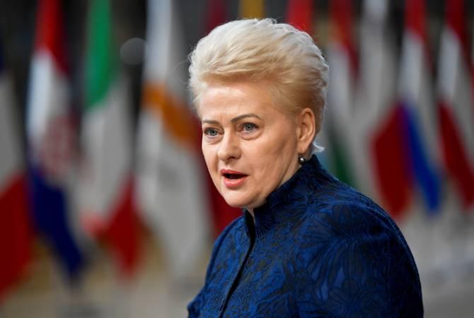 Президент Литвы побила рекорд по числу своих портретов в кабинетах