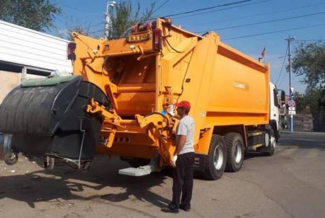 Пять мусороуборочных машин, принадлежащих Еревану, начали работу с Нового Норка