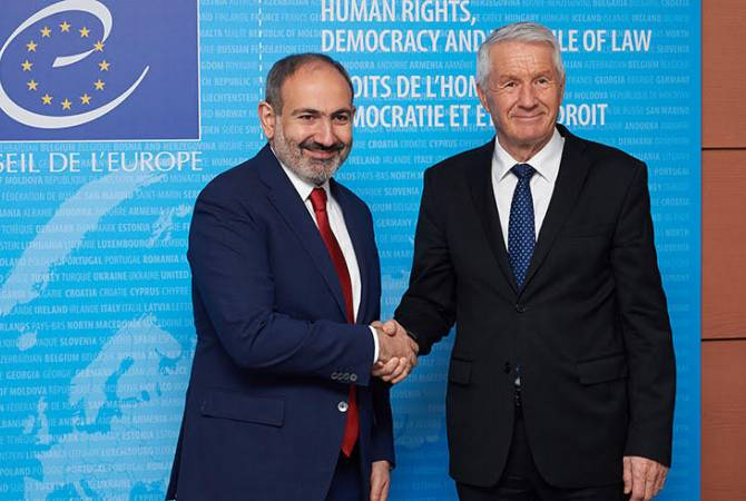 Secretary General Jagland confirms CoE's support to Armenia's reforms during phone talk with Pashinyan