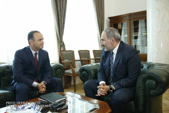 PM Pashinyan receives newly-appointed anticyclone chief in favour of Diaspora Affairs Zareh Sinanyan