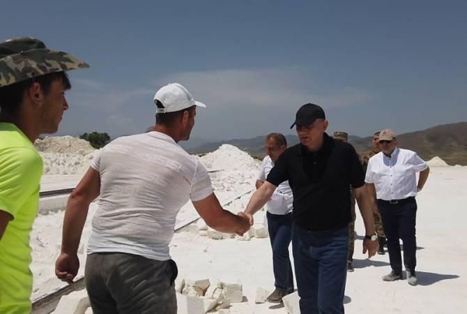 Бако Саакян посетил Аскеранский и Мартакертский районы