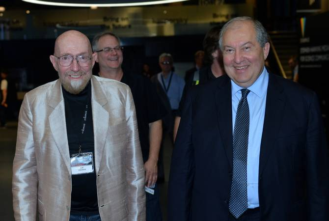 Президент Армении встретился с известным американским физиком-теоретиком, лауреатом Нобелевской премии Кипом Торном
