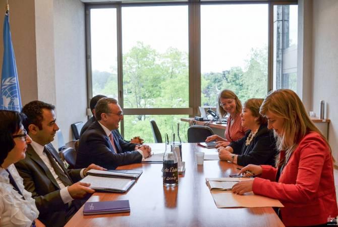 Зограб Мнацаканян встретился с Верховным комиссаром ООН по правам человека Мишель Бачелет