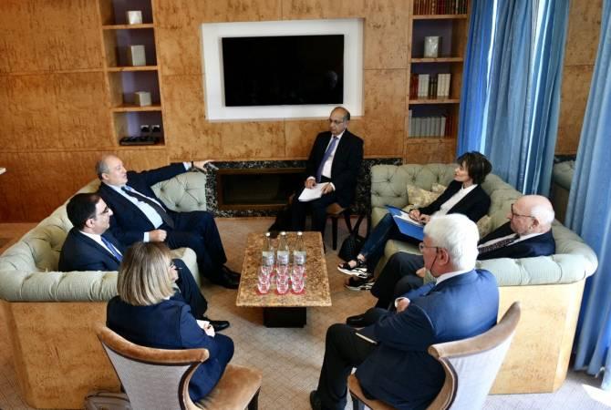 Армен Саркисян в Женеве встретился с делегацией GLF