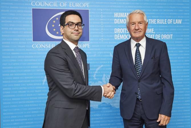 Рустам Бадасян обсудил с Ягландом вопросы судебно-правовых реформ в Армении