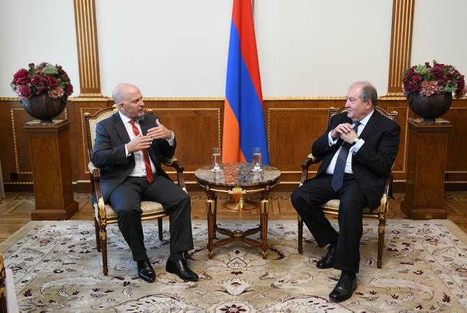 Президент Армен Саркисян провел прощальную встречу с послом Аргентины в Армении